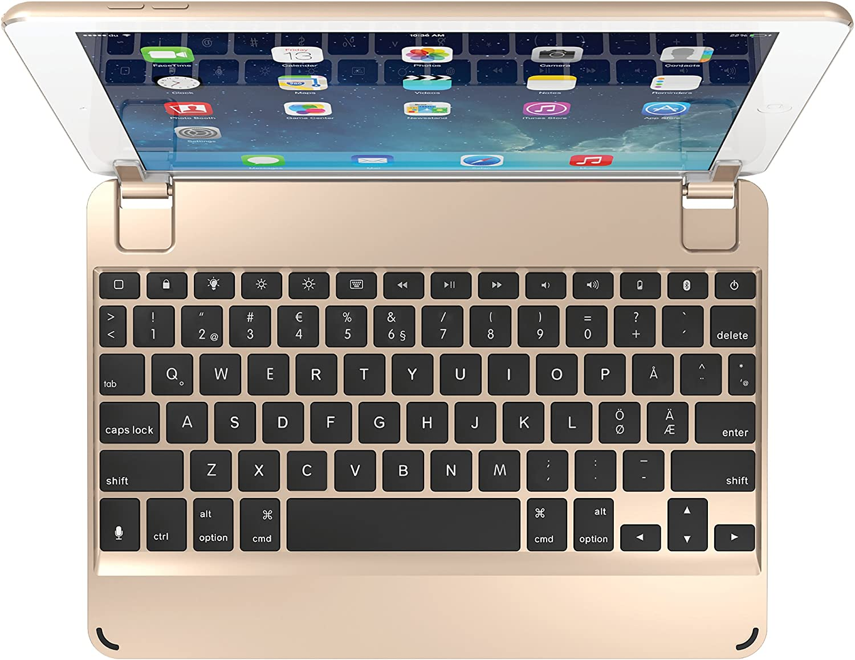 Brydge 9.7 Nordic - Teclado Bluetooth para Apple iPad 9.7, Pro 9.7, Air 1 y 2