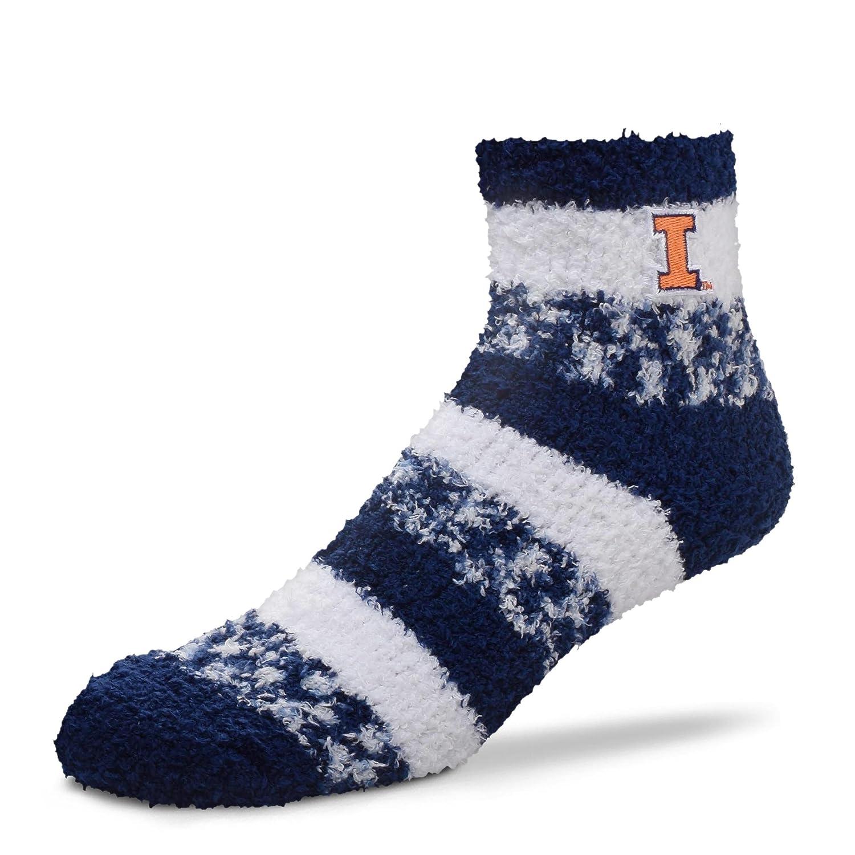 For Bare Feet NCAA RMC Pro Stripe Fuzzy Sleep Soft Sock Size-Medium