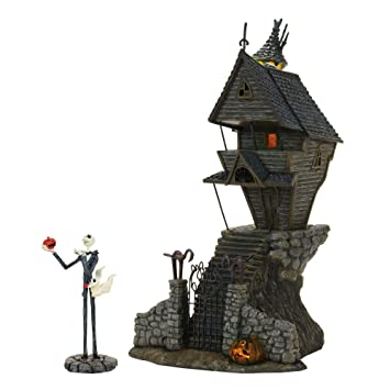 Nightmare Before Christmas Houses.Department 56 Nightmare Before Christmas Village Jack Skellington S Lit House