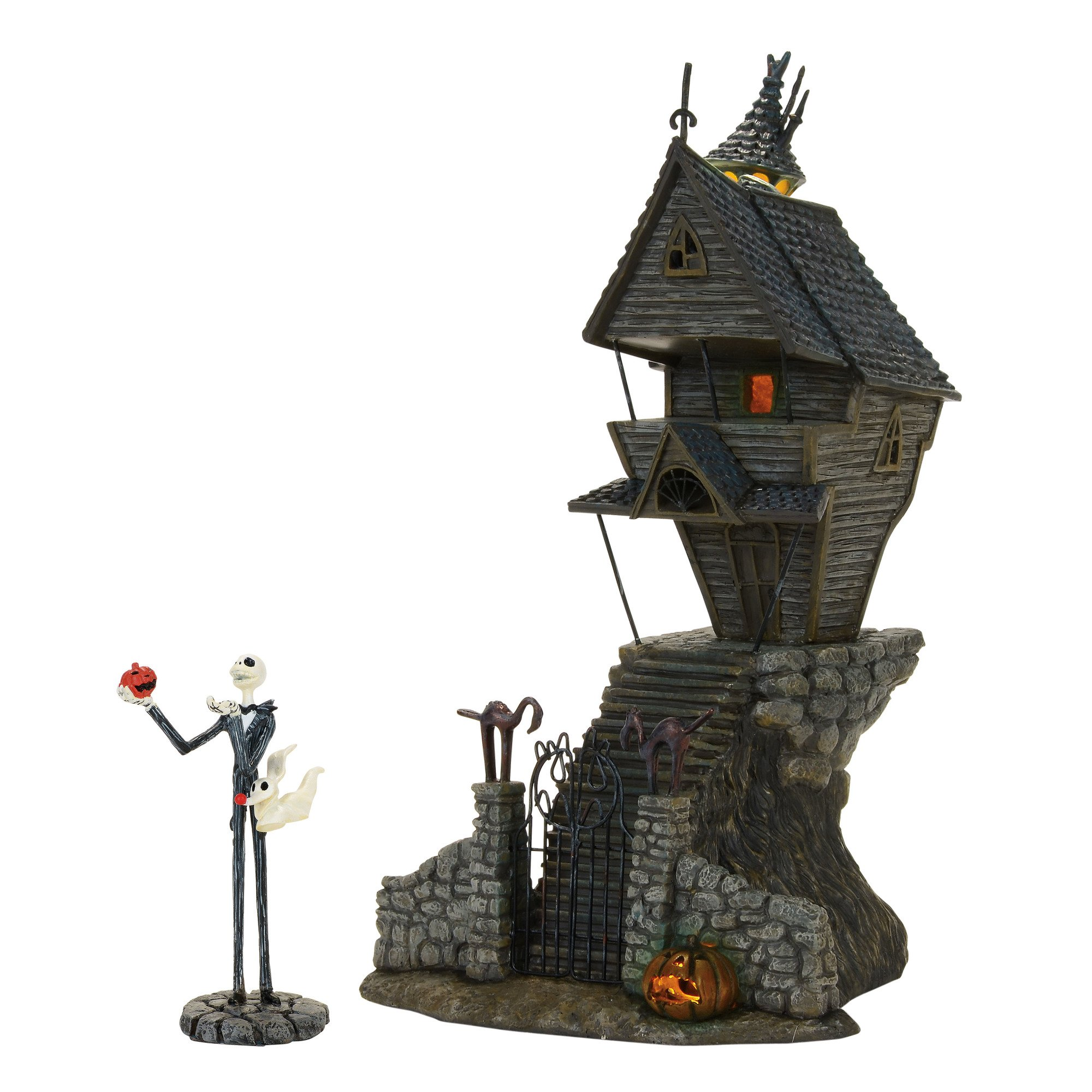 Department 56 Nightmare Before Christmas Village Jack Skellington's Lit House by Department 56