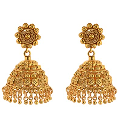 Buy 1 Gram Gold Plated Traditional Pendant Earing Set With Chain