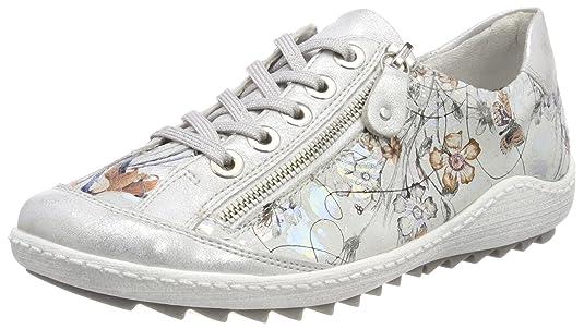 Remonte R1402, Zapatillas para Mujer, Multicolor (Ice/Offwhite-Metallic), 43 EU
