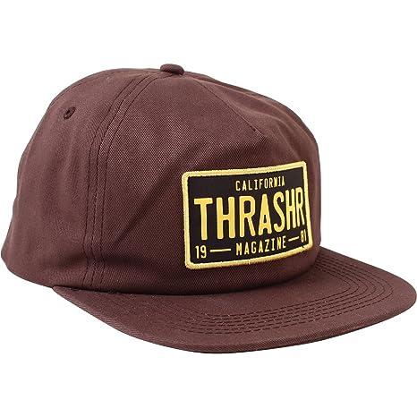 Thrasher Magazine DMV marrón gorra - ajustable: Amazon.es ...