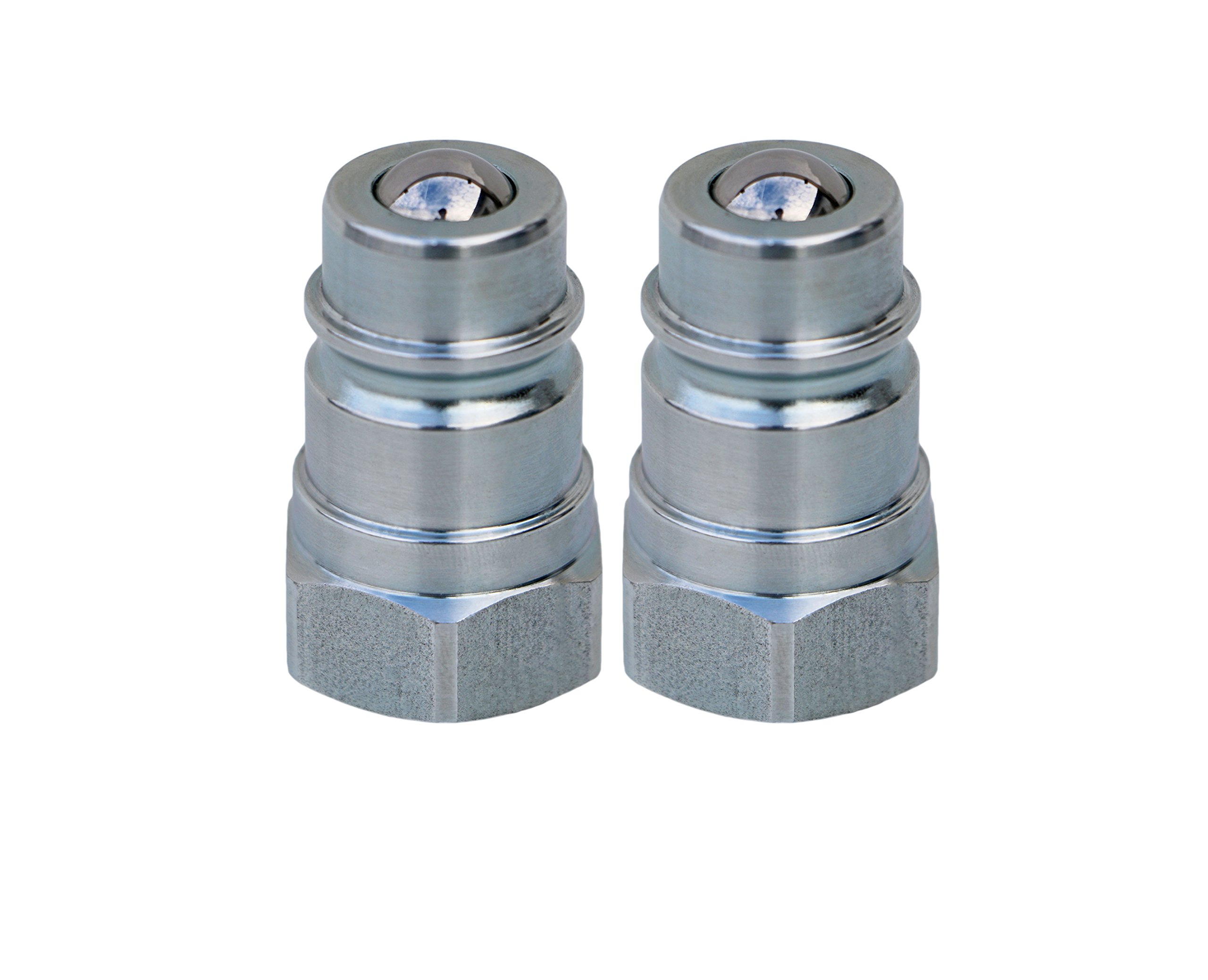 TL38-M 2 pack Ag Quick Coupler male nipple - Ball Style used on Most Tractors and Machinery - Hydraulic Tractor Coupling - Iso5675 1/2'' NPT