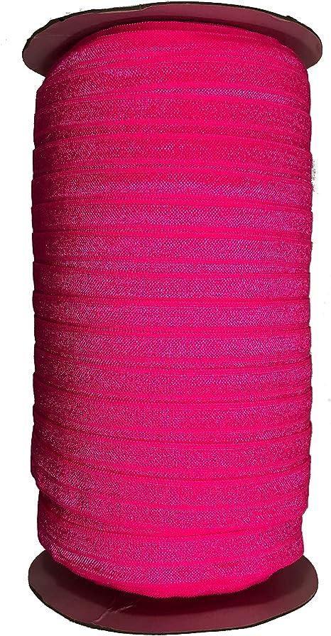JESEP 100 Yards Fold Over Elastic 5//8 15mm Stretch Foldover FOE Elastics Ribbon for Headbands Baby Girl Head Bow JSP08