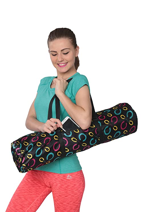 DG Sports Fashion Tote Bag Zippered Yoga Mat Carryall with Shoulder Strap   Amazon.in  Sports 49bee851c1157