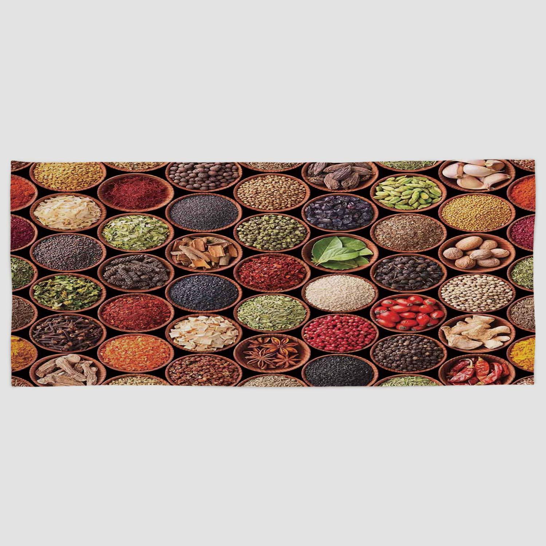 iprint Toalla de Mano de Microfibra de algodón para decoración de Fiesta, cómic, Estilo Retro, Color Azul Claro, Rojo y Amarillo, para Hotel, SPA, Playa, ...