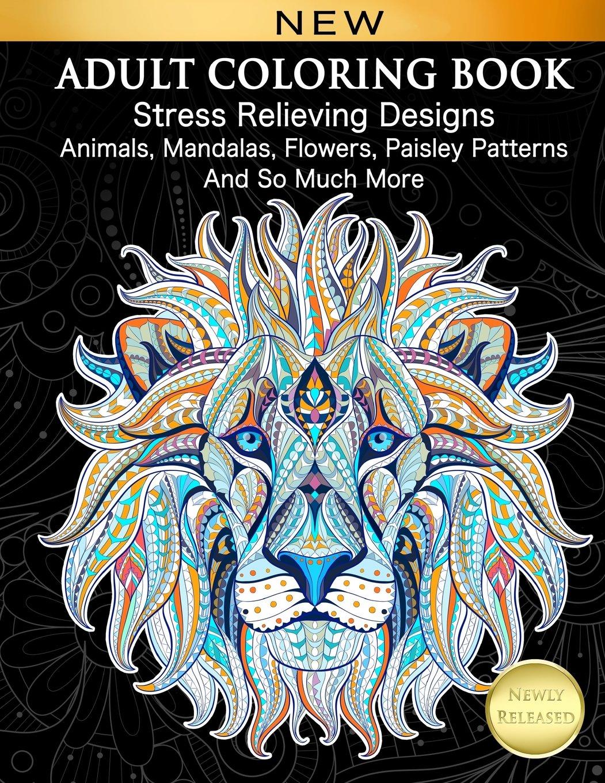 Adult Coloring Book Relieving Mandalas