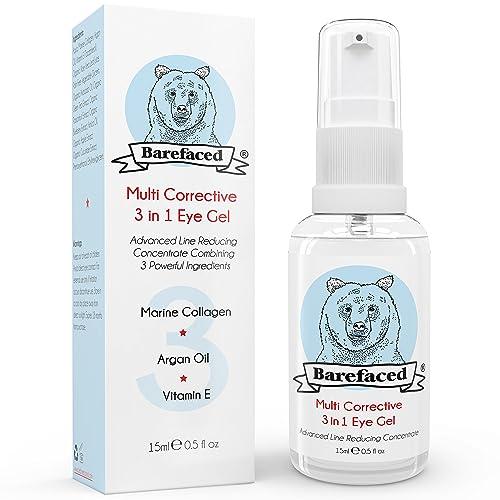 Eye Cream for Dark Circles & Puffiness - Natural Gel Treatment With Marine Collagen, Argan Oil & Vitamin E