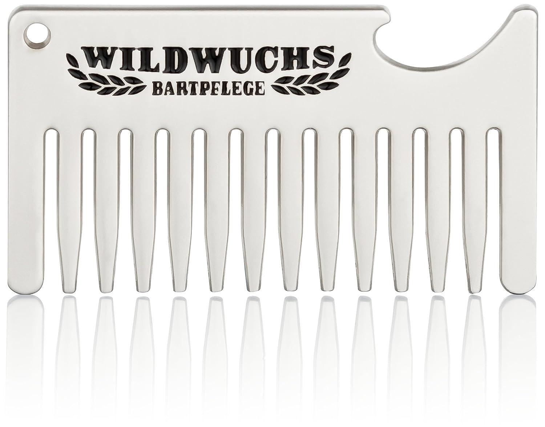 Porte-clés Beer & Beard avec peigne à barbe et ouvre-bouteille comme idée cadeau de Wildwuchs Bartpflege WB-BBKR-01