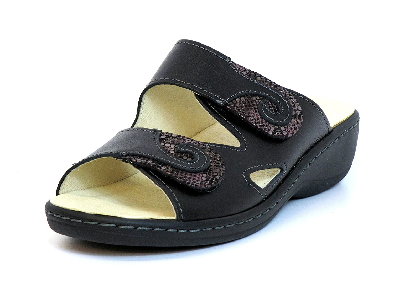 LONGO Mujeres Zapatos Abiertos Negro, (Schwarz) 42.463-1 40 EU|Schwarz