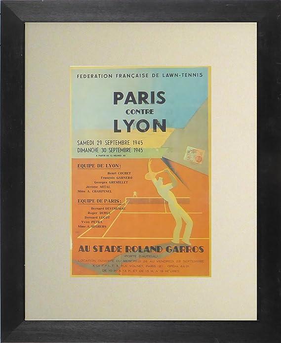 París contre Lyon AU Stade Roland Garros cuadro con marco - (tenis ...