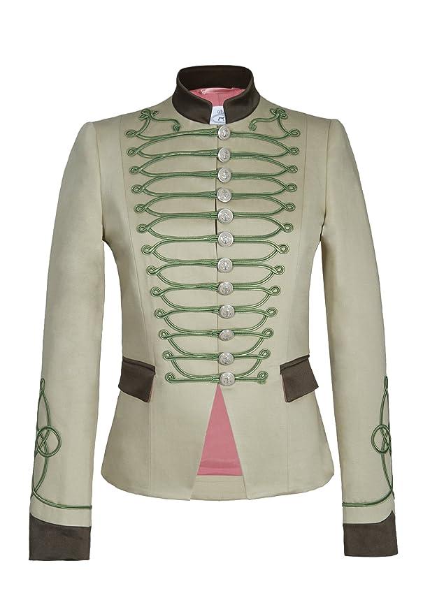 The Extreme Collection Chaqueta Blazer de Mujer Estilo Militar Beige Detalles Kaki 100% Hecha en España Edicion Limitada...: Amazon.es: Ropa y accesorios