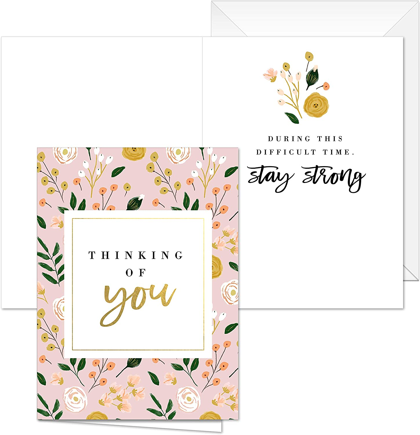5 designs with matching inside verses Modern Floral Sympathy Cards 25 Sympathy cards