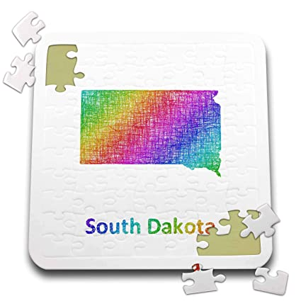 Amazon Com 3drose David Zydd Map Designs South Dakota State Map
