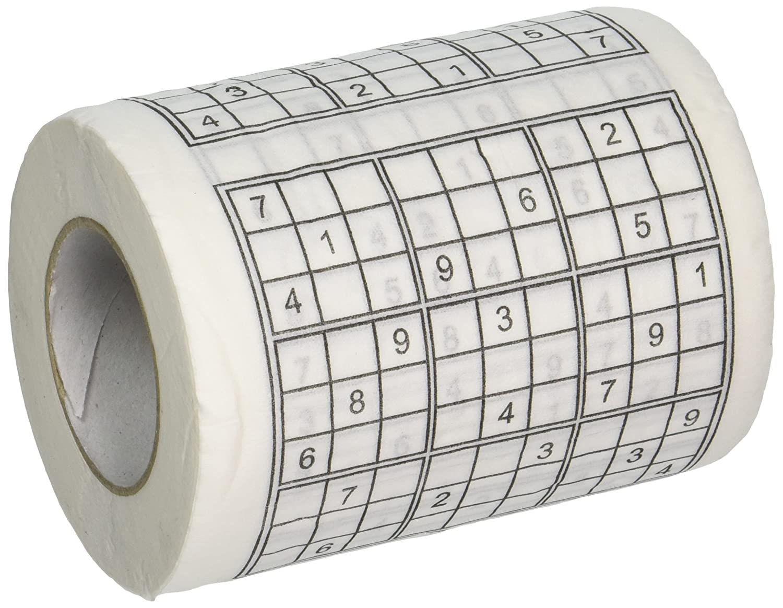Fairly Odd Novelties Sudoku Puzzle Game Roll Novelty Toilet Paper FON-10092