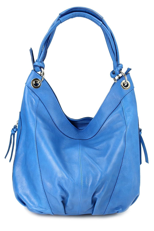 BELLI ital. Nappa Leder Shopper Handtasche Damentasche Ledertasche - Farbauswahl - 35x31(mittig)x17 cm (B x H x T) 435.210