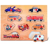 Puzzled Transportation 2 Wooden Peg Puzzle
