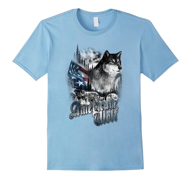 Vintage Patriotic Wolf American Flag Shirt Men Women  Kids-PL