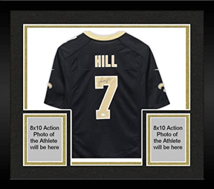 new product 083ff 72ecc Framed Taysom Hill New Orleans Saints Autographed Nike Black ...