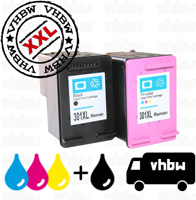 vhbw 2X Cartuchos de Tinta Compatible Cartucho de impresión Set Negro + Color para Impresora como HP 301, 301xl, CH562EE, CH563EE: Amazon.es: Electrónica