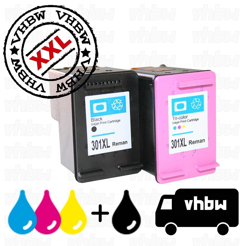 vhbw 2X Cartuchos de Tinta Compatible Cartucho de impresión Set ...