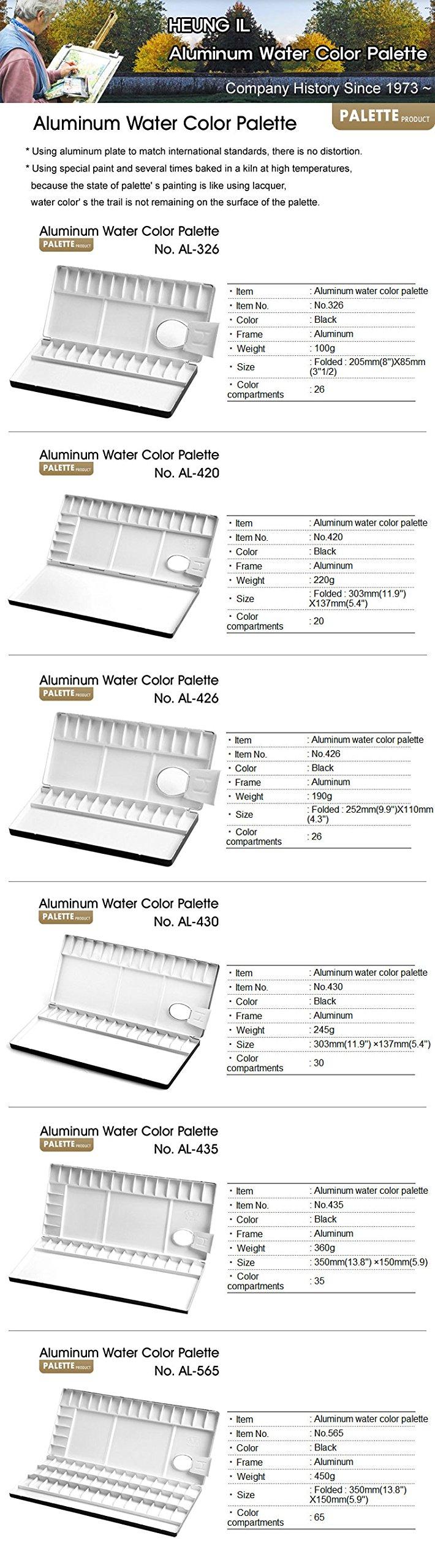 Heungil Palettes Aluminum Watercolor Palette 13//20//26//30//35//39//65 Compartments