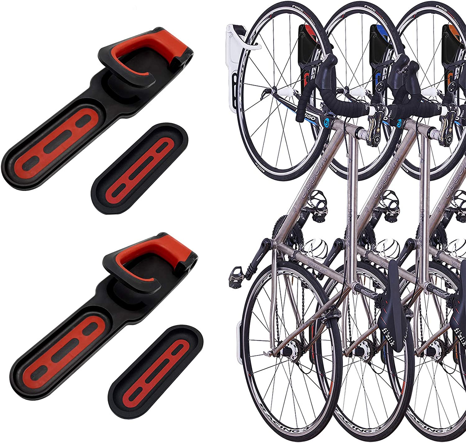 Bicycle Practical Hanging Stand Wall Bracket for Bike Bicycle Blue Wall Mounted Holder Bike Cycle Storage Hooks for Indoor Garage Shed Wall Cycle Storage Bike Rack Saving Stand