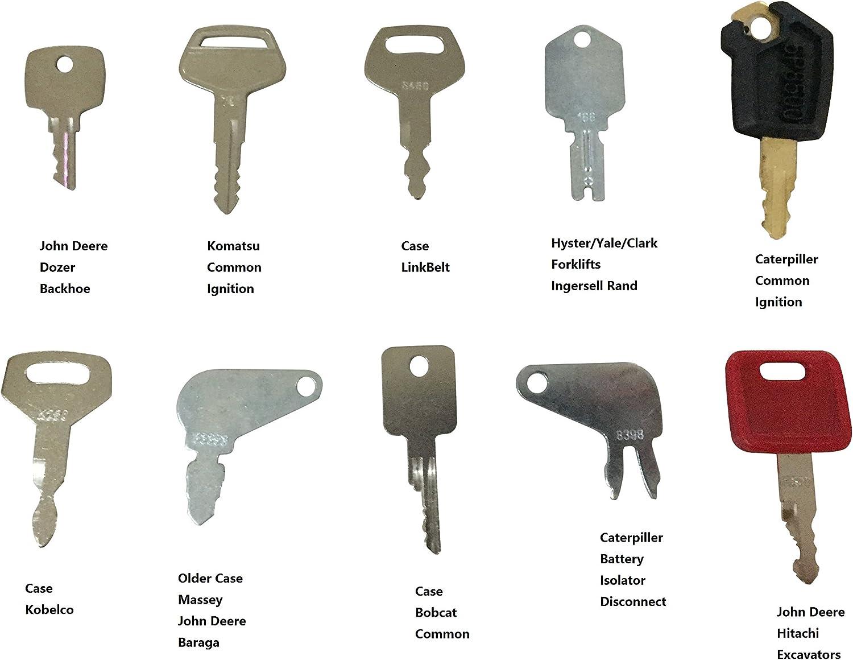 Zok 36 Heavy Equipment Construction Ignition Key Blank Set Custom Cut to fit Equipments