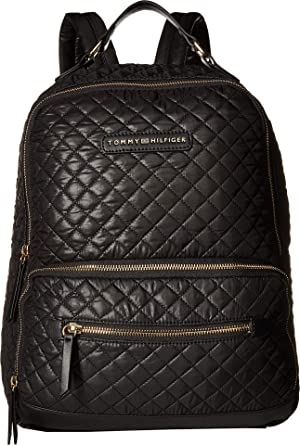 b4e71c8d Amazon.com: Tommy Hilfiger Women's Alva Backpack Quilted Nylon Black One  Size: Clothing