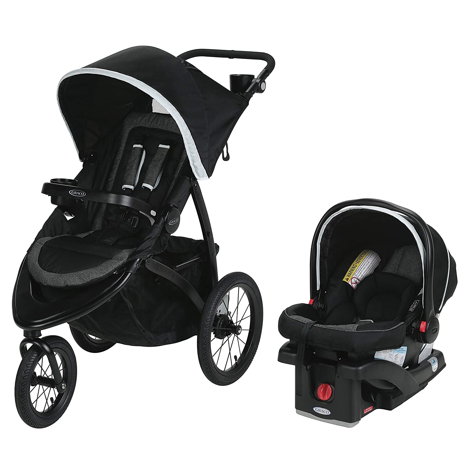 Graco Roadmaster Jogger Travel System Includes Roadmaster Jogging Stroller and SnugRide SnugLock 30 Infant Car Seat, Drift