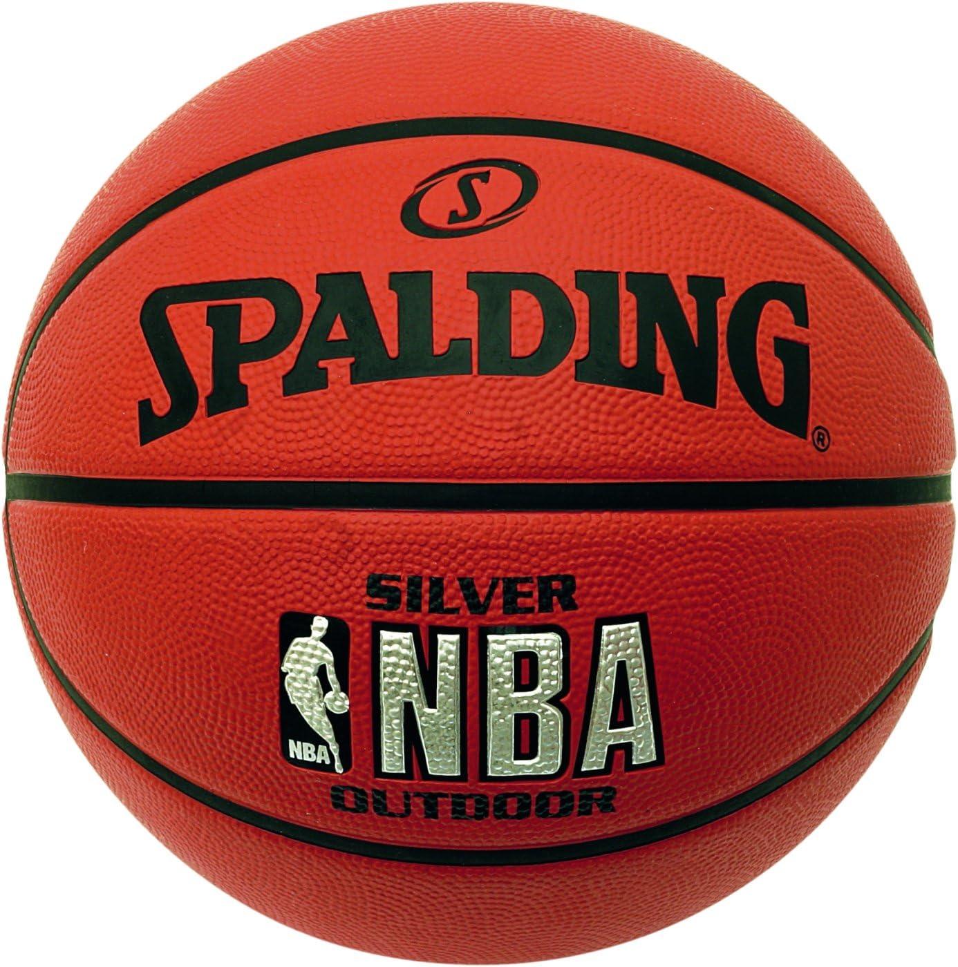 Spalding NBA Silver Outdoor Balón de Baloncesto, Unisex niños ...