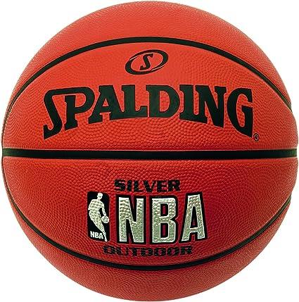 Spalding NBA Silver - Balón de Baloncesto para Exterior, Color ...