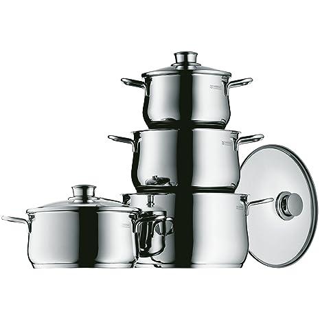 WMF Diadem Plus Batería de Cocina, Acero Inoxidable Pulido, 4 Piezas