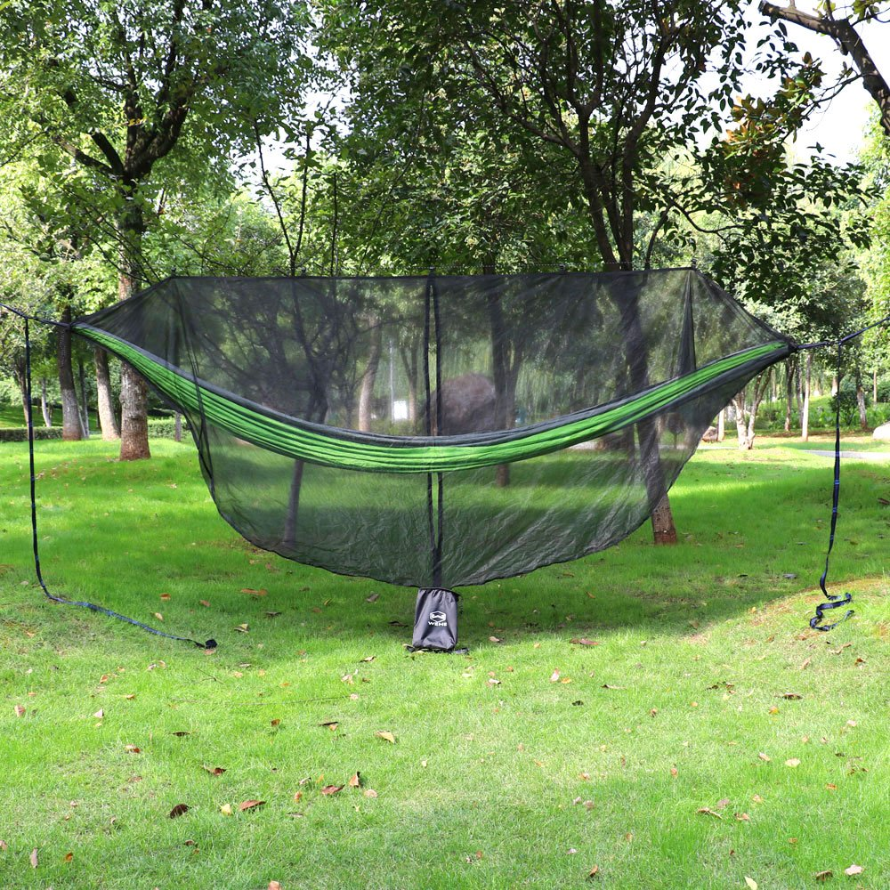 11.7oz Fast Easy Setup 11 Hammock Mosquito Net for 360/° Mosquitos Protection WEHE Hammock Bug Net Compact Fits All Camping Hammocks Essential Camping and Survival Gear Lightweight