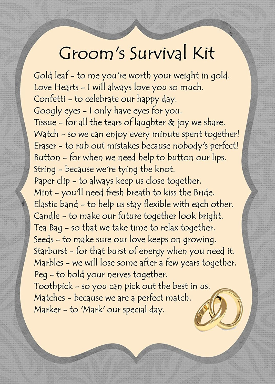 Funny Groom Wedding Survival Kit - Best site hairstyle and wedding ...