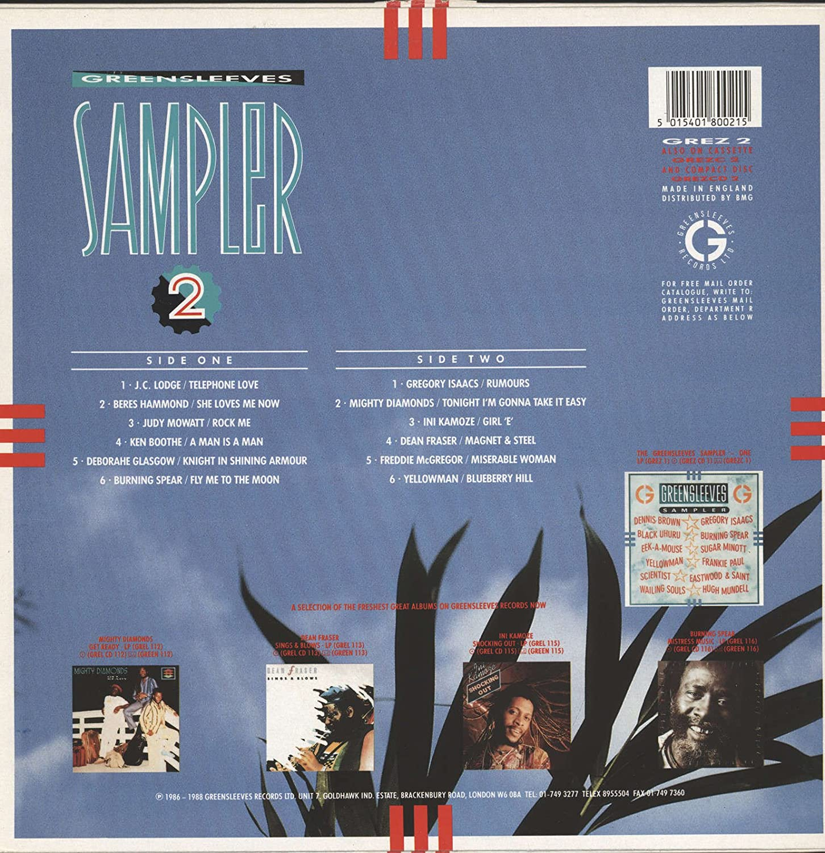 Greensleeves sampler 2 (cd, compilation)   discogs.