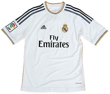 adisas Real Home Jersey Youth - Camiseta de fútbol para niños, talla 128