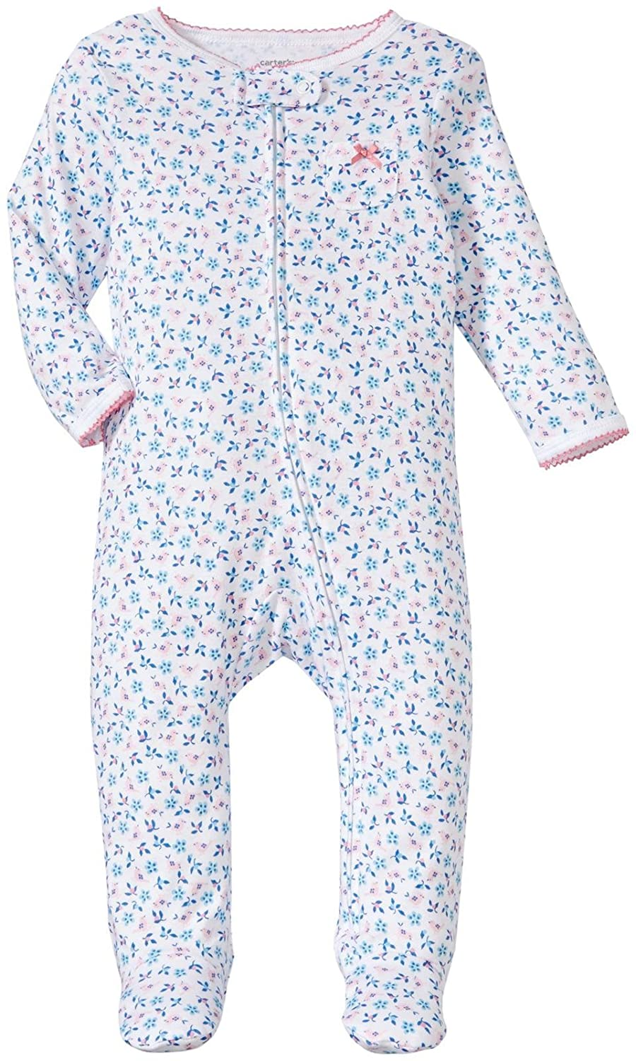 Carter's Baby Girls' Sparrow Flower Footed Coverall 3 months Carter' s 115G064-100-3M