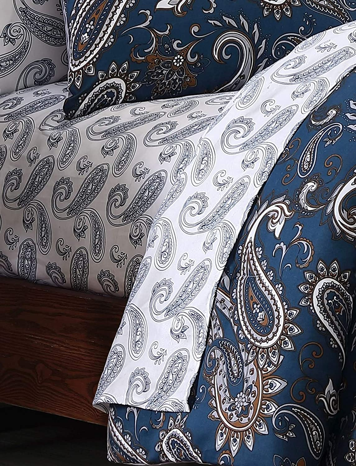 Cristobal 7pc Teal Paisley Bed in a Bag
