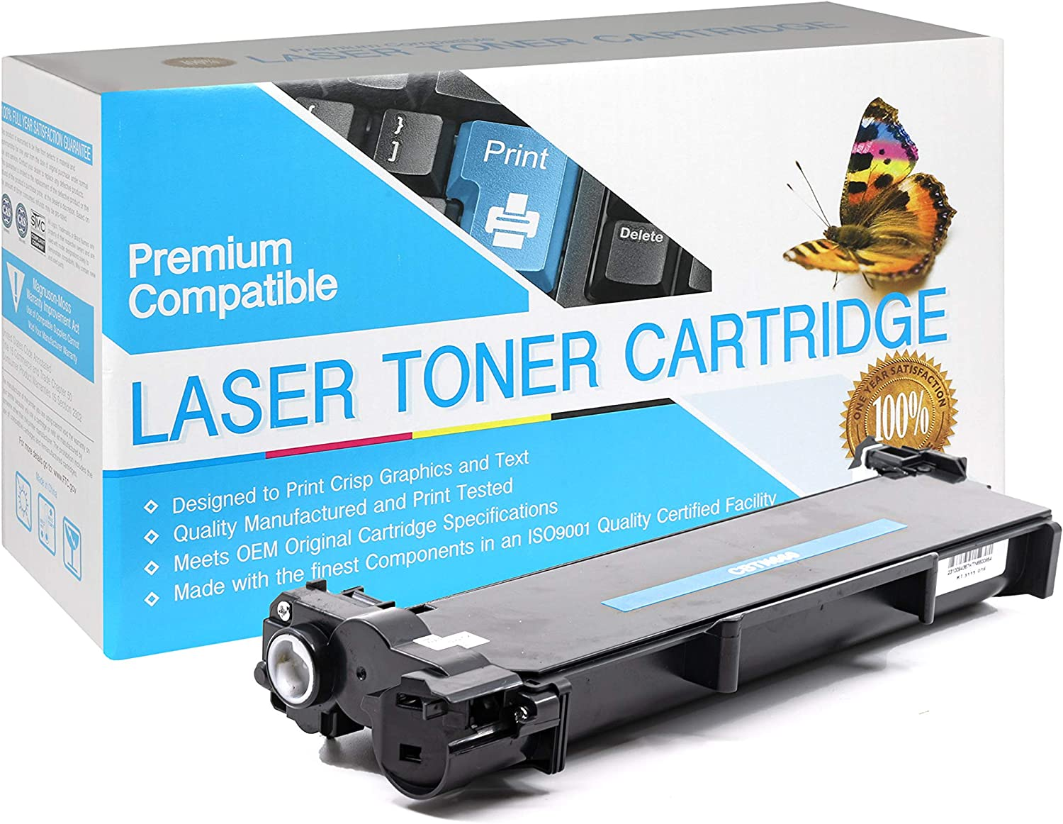 TN660 TN-660 Black,1 Pack SuppliesOutlet Compatible Toner Cartridge Replacement for Brother TN630 TN-630