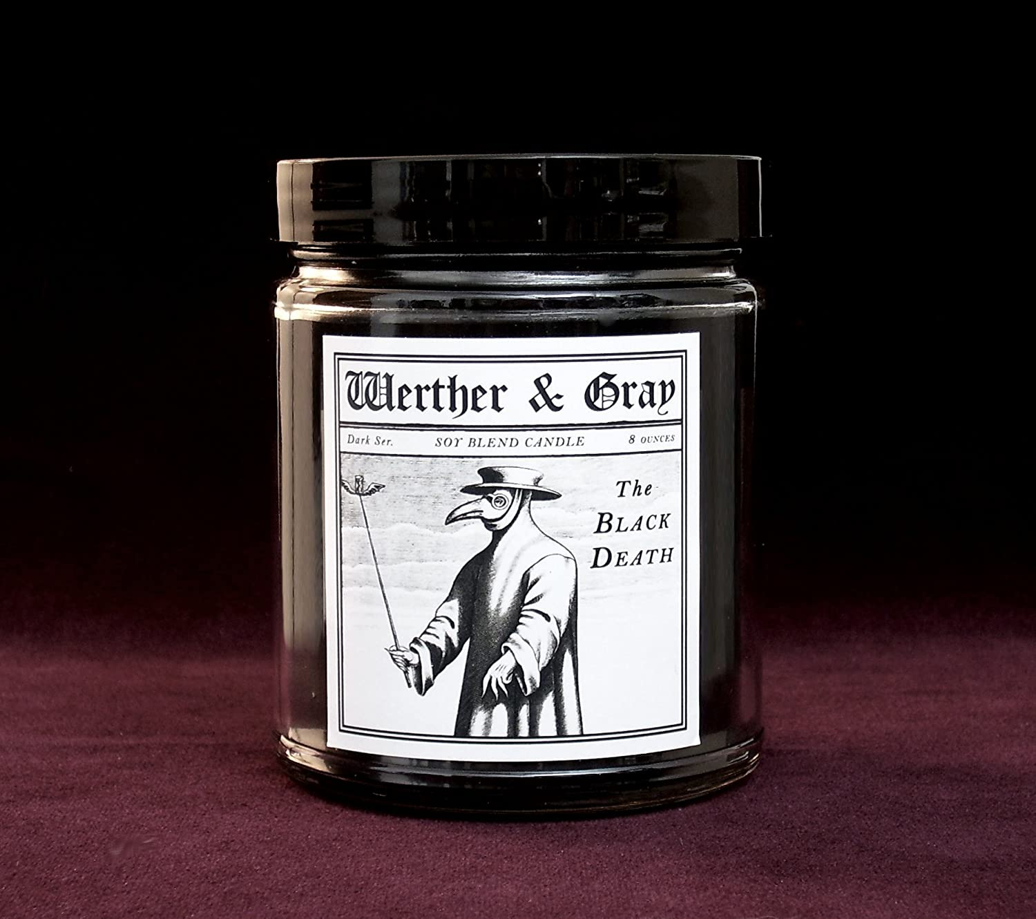 Amazon com: THE BLACK DEATH, Scented Candle, 8oz: Handmade