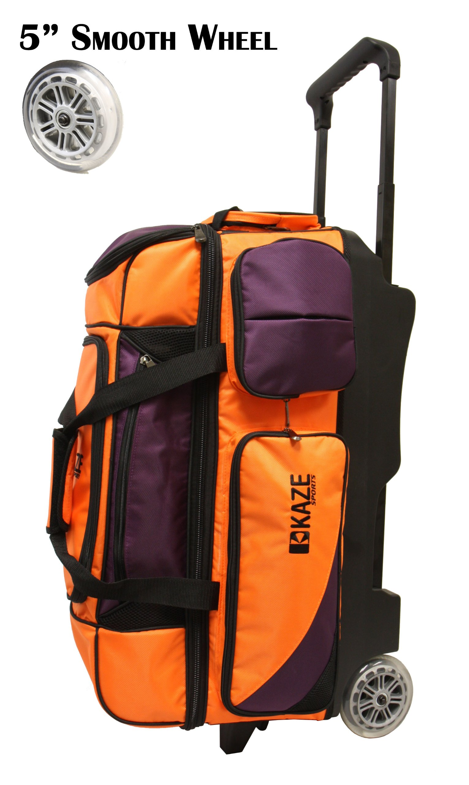 KAZE SPORTS 3 Ball Bowling Roller (Orange-Purple)