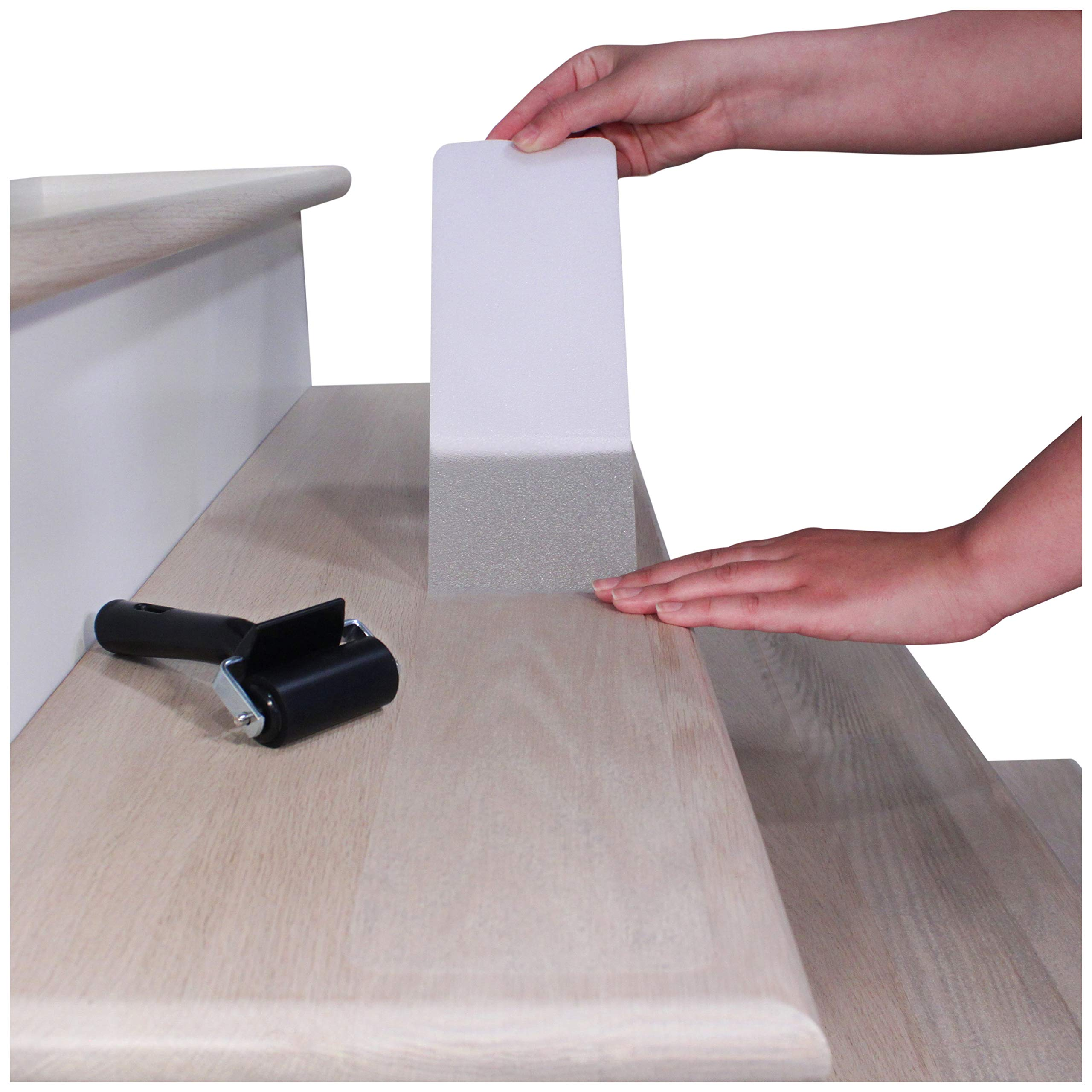 32''x4'' Non-Slip Stair Treads Tape (15-Pack) - Clear Anti-Slip Indoor Strips by <br>GRADE