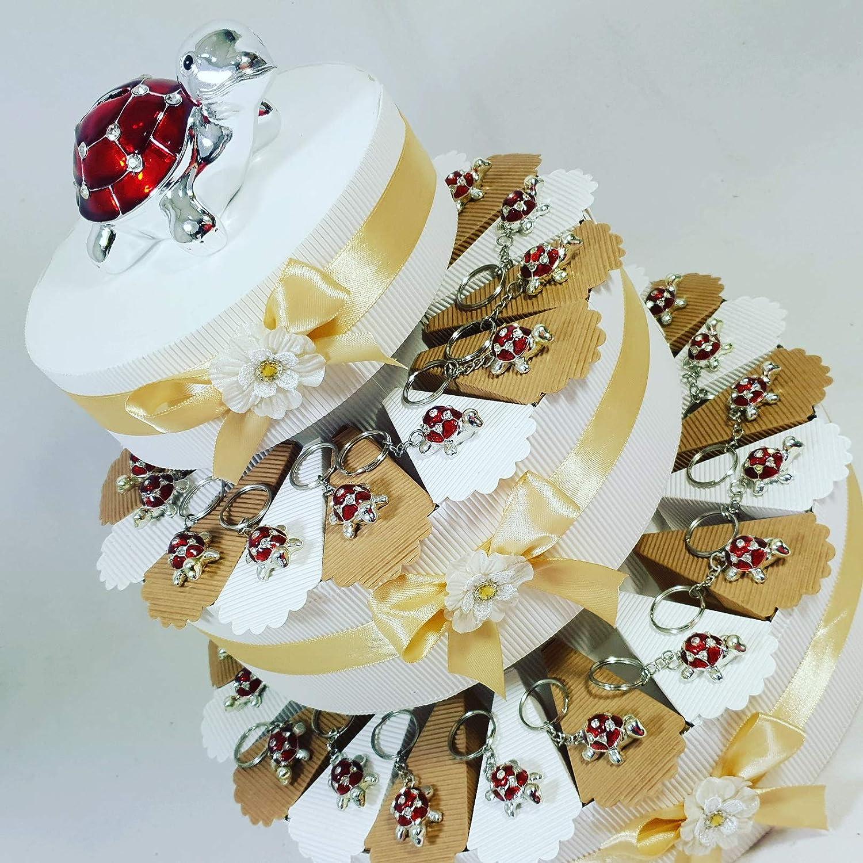 la calidad primero los consumidores primero Tarta para recordatorio decorada con llaveros en forma de de de tortuga, para cumpleaños, nacimiento. Nota:  wholesape barato
