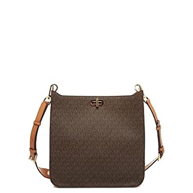 5161440952b9 Amazon.com  Michael Kors Sullivan Large N S Messenger Bag BROWN  Shoes