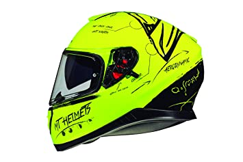 CASCO MT THUNDER 3 SV ON BOARD AMARILLO FLUOR (M)