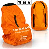 Car Seat Bag - Make Travel Easier and Save Money Ultra Durable Travel Accessories - Protect Your Child's CarSeat from Germs and Damage. Easy to Carry Padded Backpack- Compatible with Most Brands.