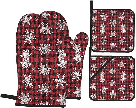 100/% linen oven mitts Oven gloves Christmas pattern print linen oven mitten Eco friendly kitchen mittens kitchen gloves Pot holders