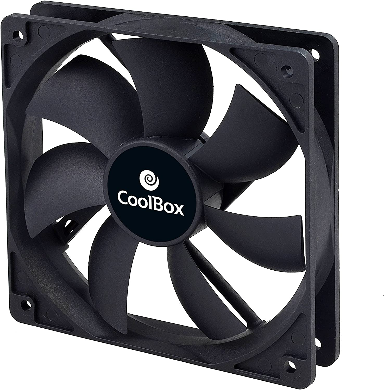 CoolBox VENCOOAU120 Computer Case Fan - Ventilador de PC (Carcasa del Ordenador, Ventilador, No Compatible, No Compatible, Negro, Molex)